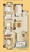 龙门御城3室2厅2卫126平方米户型图