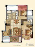 宁兴・上院3室2厅2卫89平方米户型图