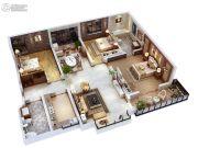 双威理想城3室2厅2卫141平方米户型图