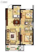 融创中央学府2室2厅1卫90平方米户型图