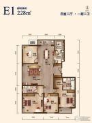 丽景长安4室2厅2卫228平方米户型图