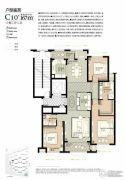 林荫大院3室2厅2卫167平方米户型图
