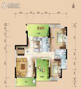 华安珑廷3室2厅2卫106平方米户型图