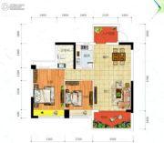 冠亚・御龙湾2室2厅1卫86平方米户型图