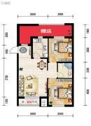 世纪枫景汇2室2厅1卫80平方米户型图