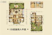 雅戈尔雅旭花苑2室2厅2卫125平方米户型图