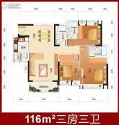 粤丰广场3室2厅1卫0平方米户型图