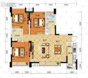 积家御景3室2厅1卫112平方米户型图