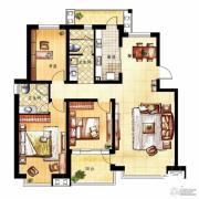凤凰花园3室2厅2卫136平方米户型图