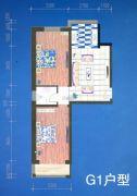 绿都花庭2室1厅1卫86平方米户型图
