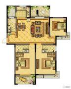 晋开四季城3室2厅1卫0平方米户型图