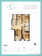 天佑・爱上岛3室2厅2卫115平方米户型图