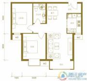 北京新天地2室2厅1卫89平方米户型图