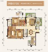 盛天熙府4室2厅2卫126平方米户型图
