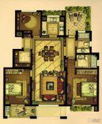 万科・珑庭3室2厅2卫115平方米户型图
