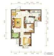 金隅时代都汇1室1厅1卫47平方米户型图