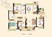 三水万达广场4室2厅2卫138平方米户型图