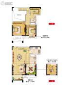 绿洲天逸城3室2厅2卫137平方米户型图