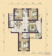 紫鑫苑3室2厅2卫124平方米户型图