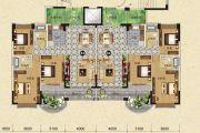 天明御华庭3室2厅2卫121--122平方米户型图