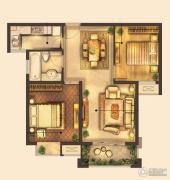 城置御水华庭2室2厅1卫80平方米户型图
