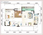 诚易佳和时代2室2厅1卫109平方米户型图