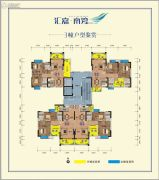 汇嘉・南湾3室2厅2卫88--98平方米户型图