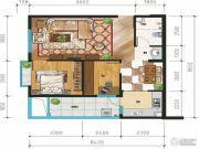 万裕・润园2室2厅1卫82平方米户型图