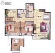 山�Z轩3室2厅1卫88平方米户型图