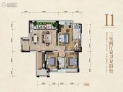 万嘉国际社区3室2厅2卫122--141平方米户型图