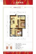 南湖观邸2室2厅1卫87平方米户型图