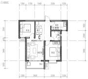 橄榄绿洲2室1厅1卫83平方米户型图