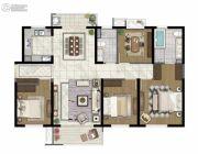 保利国际社区4室2厅2卫140平方米户型图