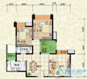 瑞升望江橡树林2室2厅1卫88平方米户型图