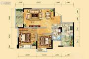 祥和御馨园二期2室2厅1卫81平方米户型图