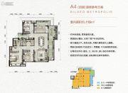 万科金色悦城3室1厅2卫119平方米户型图