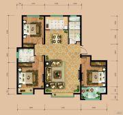 东岳国际3室2厅2卫137平方米户型图