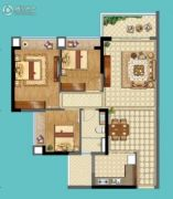 名巨山水城3室2厅1卫0平方米户型图