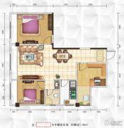 九立方国际购物中心3室2厅1卫98平方米户型图