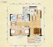 香颂诺丁山3室2厅2卫99平方米户型图