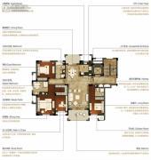 洛城中央御景3室2厅3卫176--178平方米户型图
