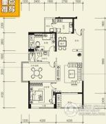 泰然南湖玫瑰湾2室2厅1卫112平方米户型图