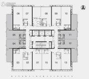 江湾2981室1厅1卫81--85平方米户型图