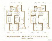 棠悦4室2厅2卫152平方米户型图