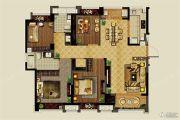 中铁北辰名邸3室2厅1卫100平方米户型图