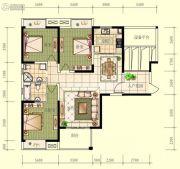 观山名筑3室2厅2卫130平方米户型图