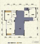 嘉州新城十期3室2厅2卫89平方米户型图