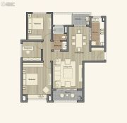 仁恒棠悦湾3室2厅1卫110平方米户型图