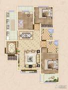 皓顺・华悦城3室2厅2卫118平方米户型图