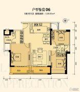 奥园外滩3室2厅2卫118平方米户型图